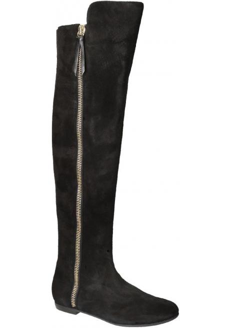 Stivali sopra al ginocchio Giuseppe Zanotti in pelle nero