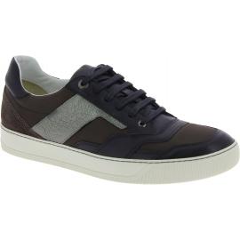 Sneakers Lanvin uomo con lacci in pelle nero