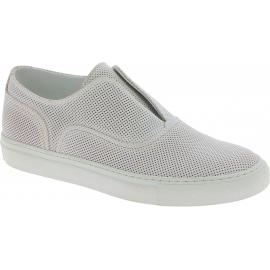 Sneakers slip on donne Sartore in pelle bianco
