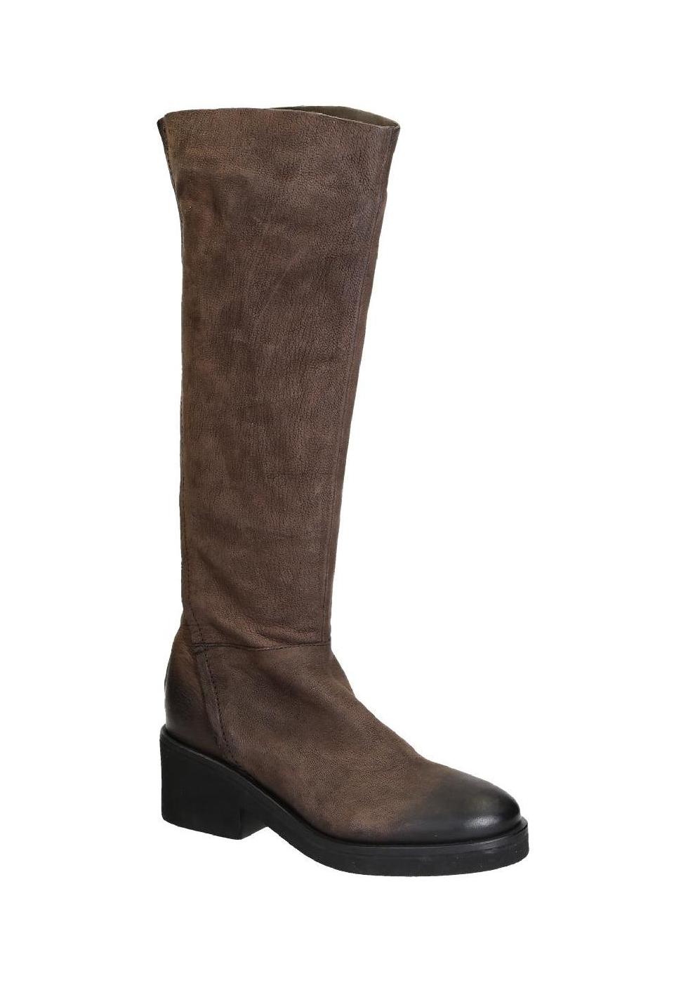 4d5c470776 Stivali al ginocchio Vic Matié in pelle marrone - Italian Boutique