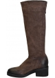 Stivali al ginocchio Vic Matié in pelle marrone
