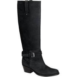 Stivali al ginocchio Barbara Bui in pelle nabuk nero