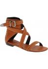 Barbara Bui Sandali bassi da donna in pelle cammello cinturino alla caviglia