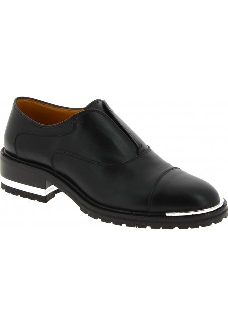 Barbara Bui Scarpe fashion senza lacci da donna con tacco comodo in pelle nera