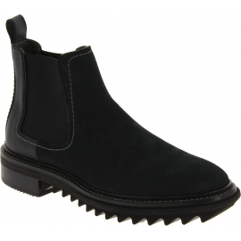 Lanvin Stivaletti alla caviglia elasticizzati fashion da uomo in pelle nera