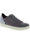 Lanvin Sneakers basse con lacci da uomo in pelle scamosciato grigio