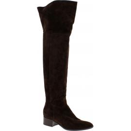 Sartore Stivali sopra il ginocchio da donna in pelle scamosciato marrone