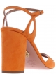 Sandali tacco alto Aquazzura in pelle camoscio arancio