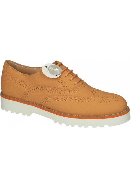 Stringate brogue Hogan donna in pelle arancione