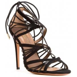 Sandali tacco alto Aquazzura in pelle Scamosciato nero