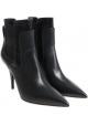 Casadei Stivaletti alla caviglia donna in pelle nera con tacco a spillo