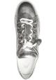 Tod's Sneakers basse fashion da donna in pelle laminata argentata con nappine