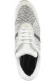 Barbara Bui Sneakers basse da donna in pelle bianca e nera con stampa pitone