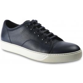 Lanvin Sneakers basse fashion con punta arrotondata da uomo in pelle di vitello nera