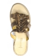 Sartore Sandali mules platform a fasce con frange da donna in pelle taupe
