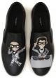 Slip-on Dolce&Gabbana per uomo in pelle nero