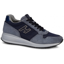 Sneakers Hogan Interactive in suede blu chiaro