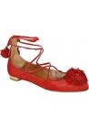 Ballerine con lacci Aquazzura in camoscio rosso