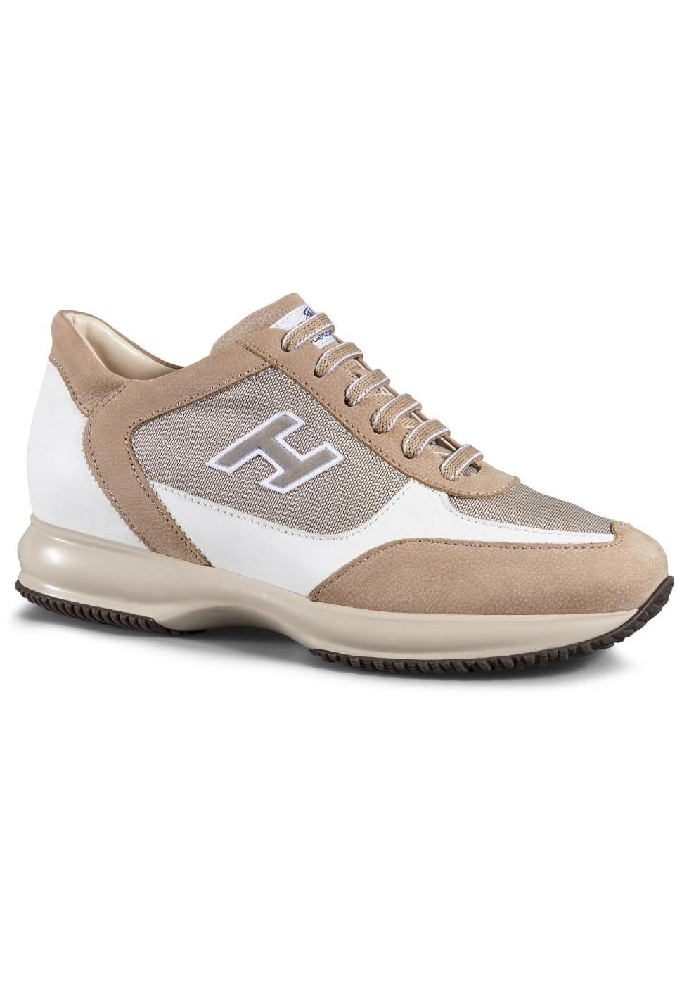 Sneakers Hogan Interactive uomo in nabuk e pelle - Italian Boutique c274244e232
