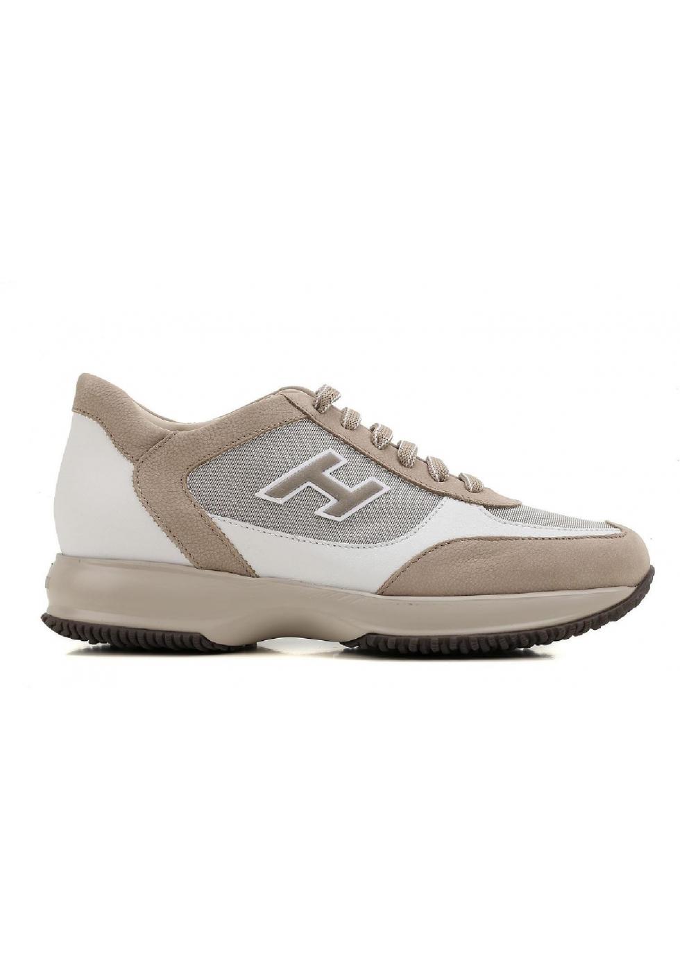 23d060e241d3c Sneakers Hogan Interactive uomo in nabuk e pelle - Italian Boutique