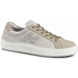 Sneakers Hogan H302 da uomo in suede beige
