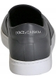 Slip-on sneakers Dolce&Gabbana uomo in pelle grigio