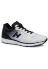 Sneaker Hogan in pelle bianca con sfumatura nera