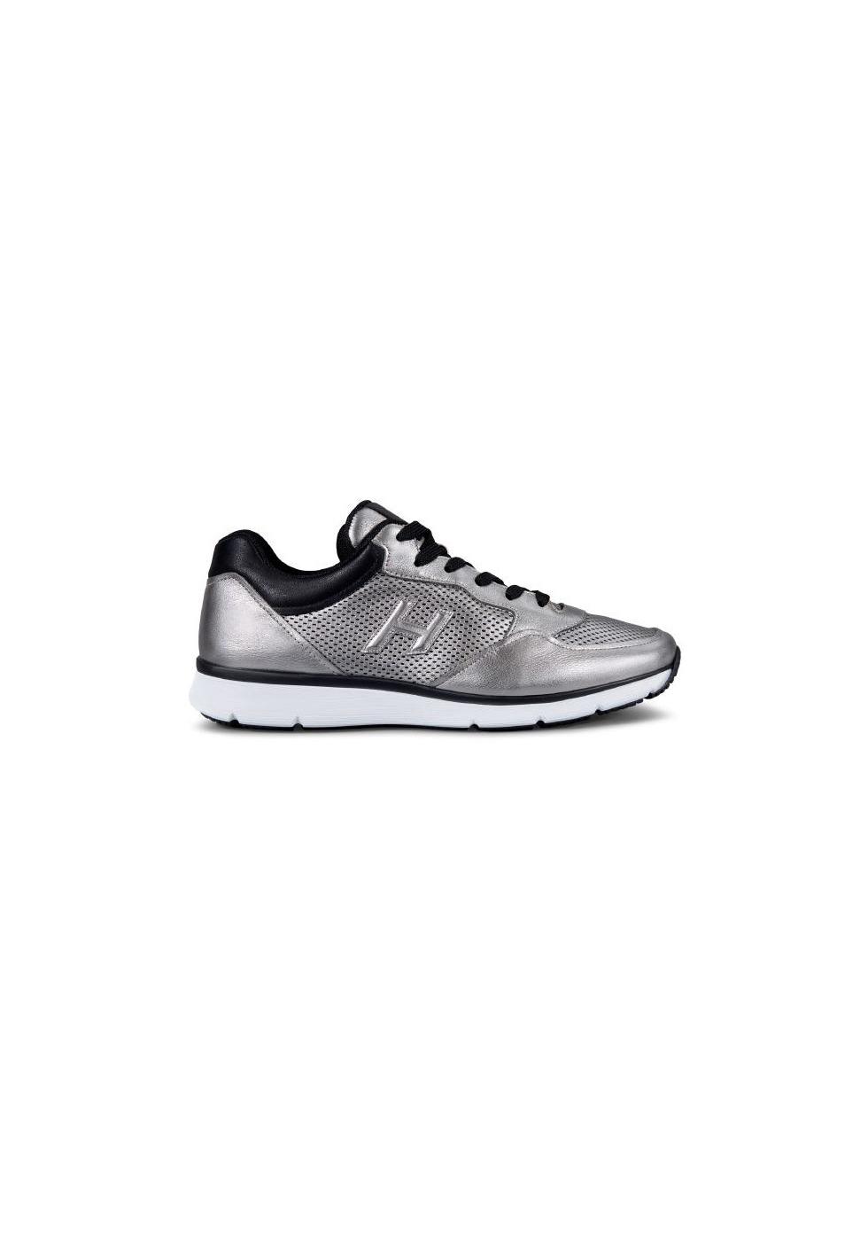 fad704390aa59 Sneakers Hogan uomo in pelle laminata color argento - Italian Boutique