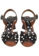 Sandali tacco alto Dolce&Gabbana in pelle tessuto nero