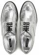 Stringate Dolce&Gabbana donna in pelle argento