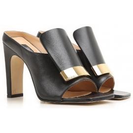 Sandali con tacco alto Sergio Rossi in pelle nero