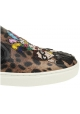 Sneakers slip-on Dolce&Gabbana donna in pelle leopardata