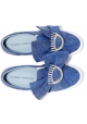 Sneakers slip-on Chiara Ferragni in tessuto blu