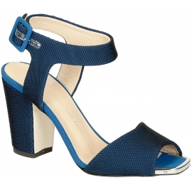 Sandali tacco alto Zanotti in tessuto tecnico blu