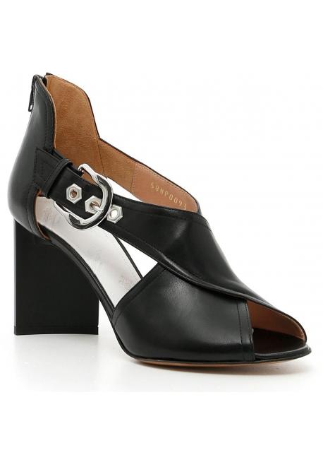 Sandali tacco alto Maison Margiela in pelle nero