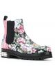Stivaletti alla caviglia Alexander McQueen in pelle floreale