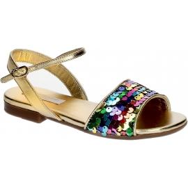 Sandali bambina Dolce&Gabbana in Laminato oro