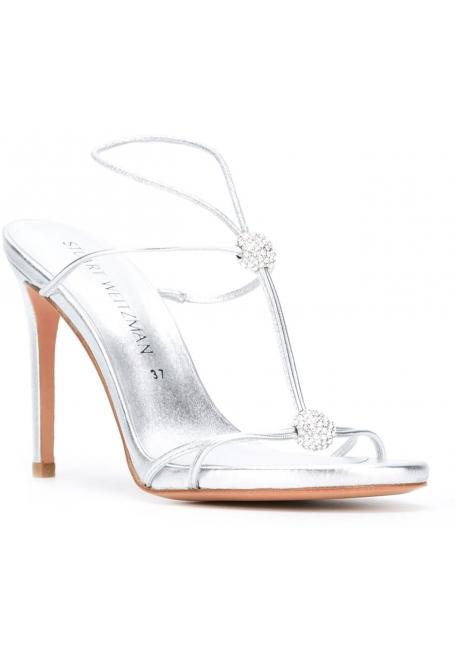 Sandali tacco alto Dolce&Gabbana in pelle argento :