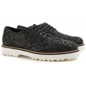 Stringate Hogan donna in pelle e brillantini nero