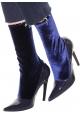 Stivaletti mezzo polpaccio Balenciaga in vernice blu
