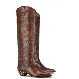 Stivali al ginocchio Isabel Marant in Pelle di vitello marrone