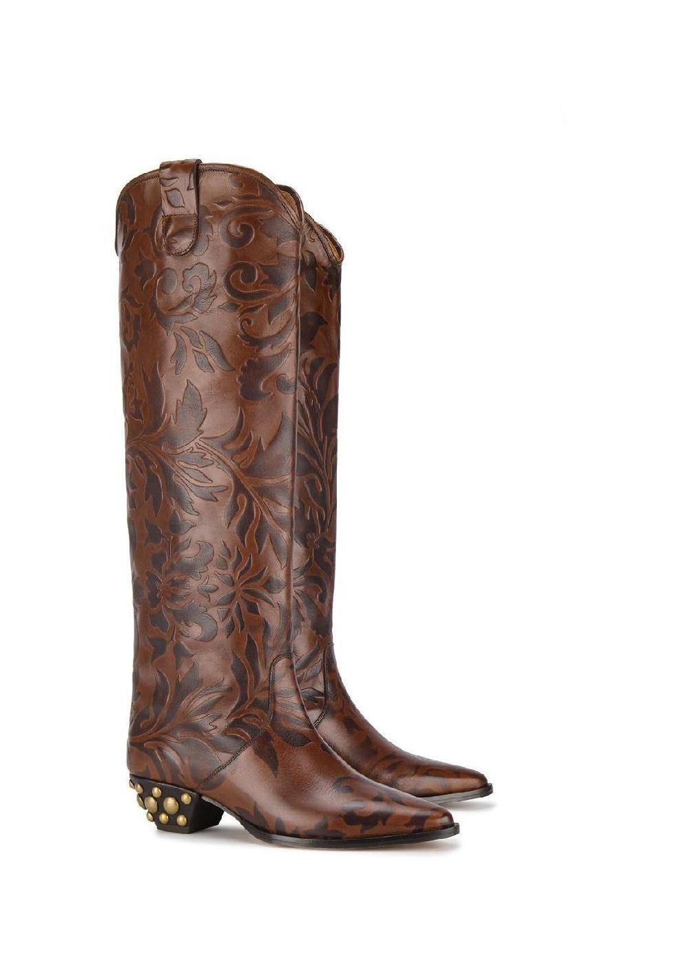Stivali al ginocchio Isabel Marant in Pelle di vitello marrone c40f4468965