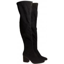 Stivali sopra al ginocchio Kendall+Kylie in tessuto nero