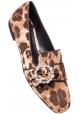 Mocassini Dolce&Gabbana donna in velluto leopardato