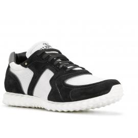 Sneakers Valentino uomo in pelle nero e tessuto bianco