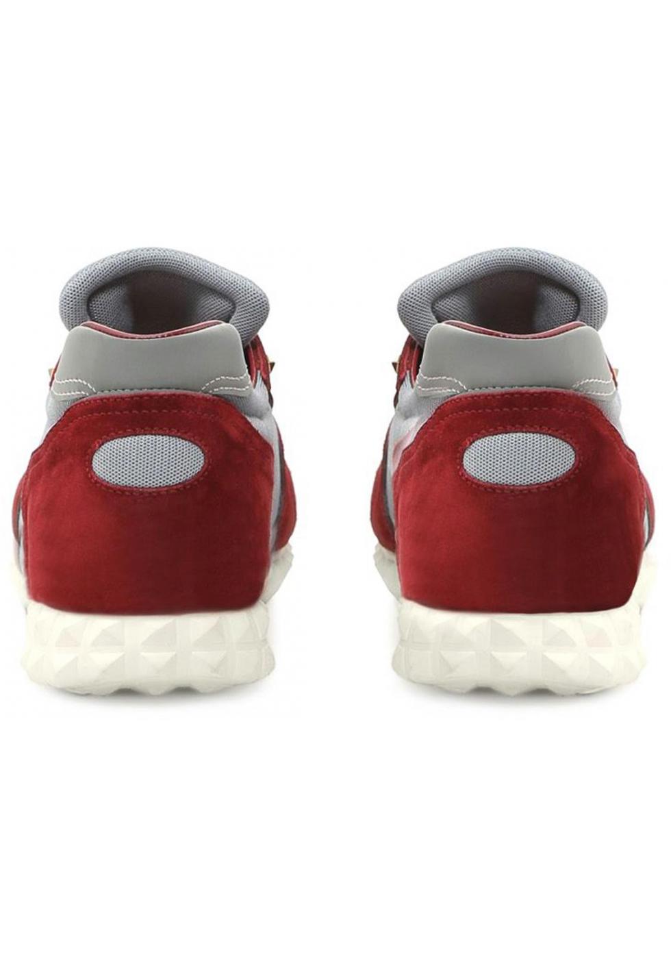 valentino Sneakers Valentino uomo in pelle scamosciato bordò e tessuto w4QlWZ