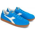 Sneakers Diadora uomo in pelle acamosciato azzurro