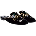 Babbucce Dolce&Gabbana da donna in Velluto nero