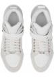 Sneakers alte Jimmy Choo uomo in pelle e camoscio bianco