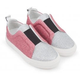 Slip-on Pierre Hardy in brillantini argento e rosa